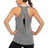 Superora Débardeur de Sport Femme Tank Top Gilet T-Shirts à Dos Ouvert sans Manches pour Running Fitness