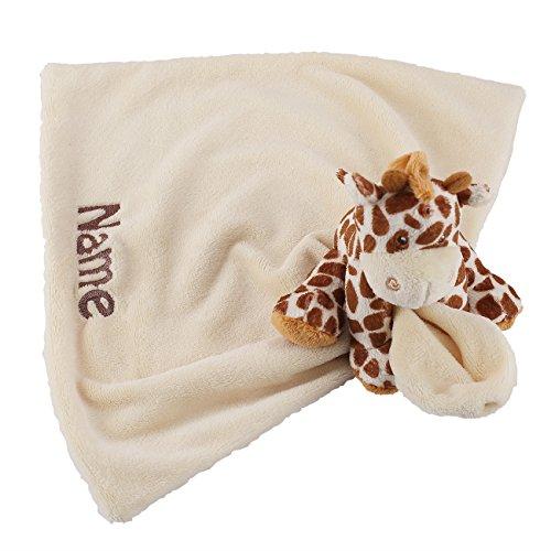 Striefchen® niedliches Schnuffeltuch Giraffe für Babygeschenk mit Namen des Kindes