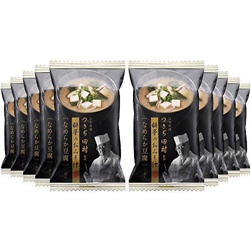 マルコメ フリーズドライ つきぢ田村 なめらか豆腐 即席味噌汁 1食×10個