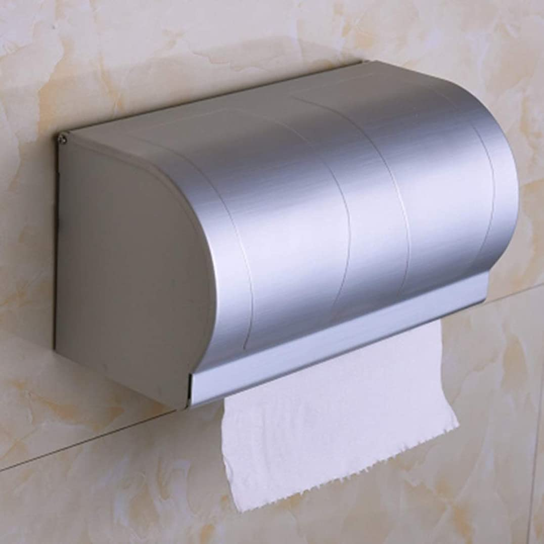 悪名高い今日敬礼ZZLX 紙タオルホルダー、宇宙アルミのバスルームペーパータオルホルダー閉鎖トイレットペーパーホルダー ロングハンドル風呂ブラシ (色 : C)