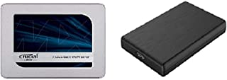 Crucial SSD 1000GB MX500 内蔵2.5インチ 7mm MX500 (9.5mmスペーサー付属) 5年保証 【PlayStation4 動作確認済】 正規代理店保証品 CT1000MX500SSD1/JP + 玄人志向 2....