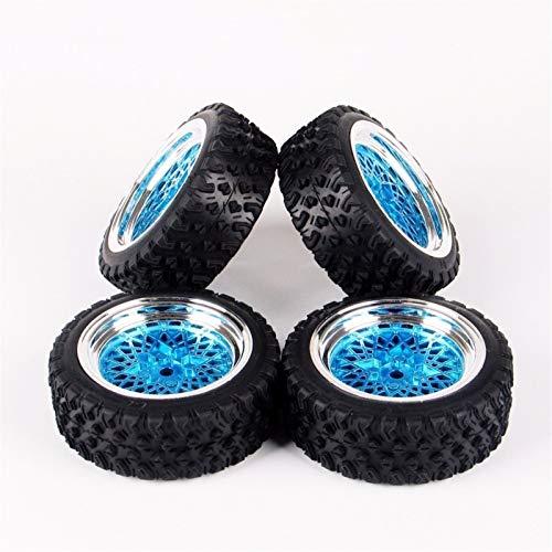 Conveniente neumático de coche Rc, Neumáticos 1/10 Escala Rally de caucho y la llanta de la rueda con 6 mm offset y hexagonal de 12 mm de HSP HPI RC modelo de coche Accesorios Juguetes para modelo de