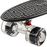 FunTomia Mini-Board 57cm Skateboard mit oder ohne LED Leuchtrollen inkl. Alu Truck und Mach1 Abec-11 Kugellager - 3