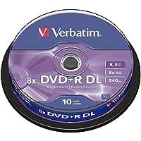 Verbatim 43666 - DVD+R vírgenes de Doble Capa (Paquete de 10)