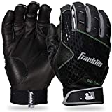 Franklin Sports 2nd-Skinz® - Guantes de bateo, Color Negro y Negro