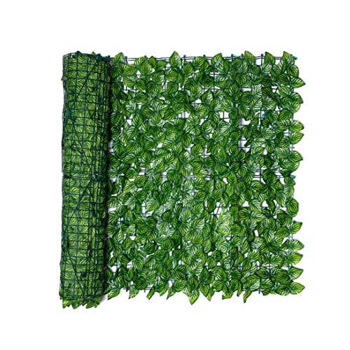 ZYCX123 Paneles de la Cerca de la Hoja Hoja Artificial Cerca de la Pantalla de Cobertura de privacidad Rollo Pared sandía Hoja Paisaje de jardín al Aire Libre del Patio Trasero Balcón 0.5x1M