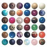 100個 天然石 混合色 パワーストーン ブレスレット 作成用 丸玉8mm ビーズ セット ケース付き