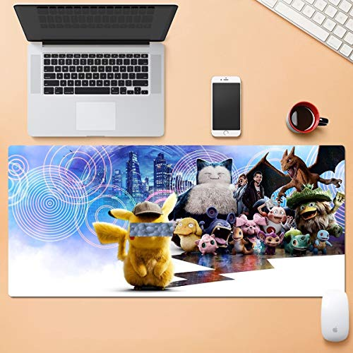 Dibujos animados de gran tamaño alfombrillas de ratón, Pokemon, grandes alfombrillas de ratón for uso en el hogar, de 3 mm de espesor extendido tabla de bloqueo Mats, a prueba de agua de ratón teclado