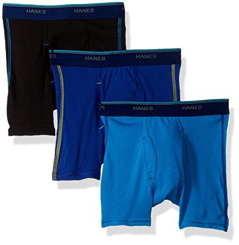 Hanes Jungen Red Label Comfort Flex Sport Inspired Boxer Briefs 3-Pack Slip, Sortiert, Large (3er Pack)