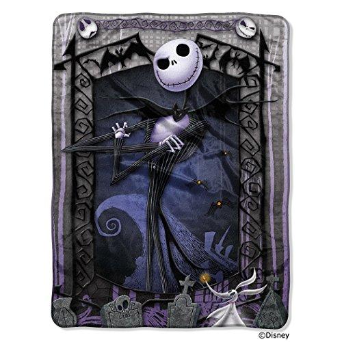 Disney's Nightmare Before Christmas, 'Jack's Graveyard' Micro Raschel Throw Blanket, 46' x 60', Multi Color