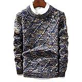 HOSD Sweater Hombres Moda Pullover Hombre O-Cuello Raya Slim Fit Knitting Fashion Sweaters...