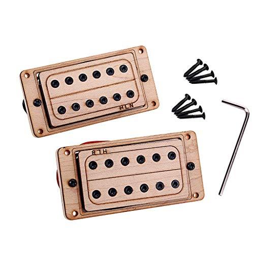 Guitarra eléctrica Humbucker Pastilla de doble bobina (mástil y puente) Madera