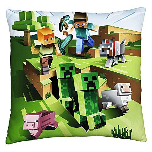 Halantex Minecraft Kissen Dekokissen Pillow MNC142 40 x 40 cm