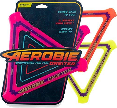 Aerobie Orbiter Boomerang, dreieckiger Boomerang mit Durchmesser 24, 5cm, farblich sortiert