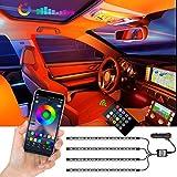 Auto-Innenbeleuchtung LED Strips, 72 LEDs APP-gesteuert, Beleuchtungsset mehrfarbig, Sync mit Musik,...