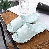 WZLJW Antideslizante Suave Cubierta Casa Zapatillas, Zapatillas de Masaje relajantes pie, un par de Zapatillas Fresco-luz Blue_40-41, Antideslizante Suave Cubierta Zapatillas de casa ggsm