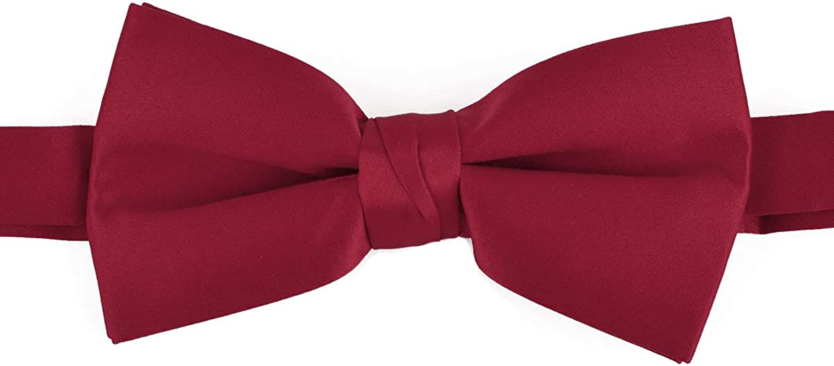 Solid Satin Color Polyester Pre Knotted New product Formal Tie and Bow Fort Worth Mall Clas
