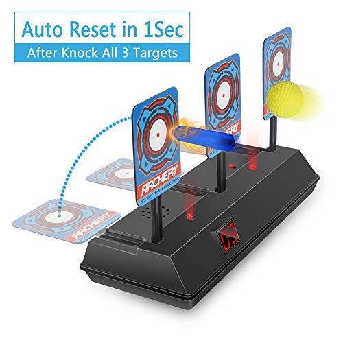 HAHAone Restablecimiento automático del Objetivo de Disparo eléctrico para Nerf Guns N-Strike Elite / Mega / Rival Series, Objetivos Digitales con Efectos de Sonido de luz