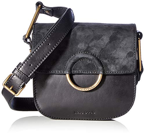 Marc O'Polo Damen Umma CROSSBODY BAG S, black, OS