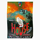 Horror Supernatural Vintage Haunted House Cult Ghost Hausu   Impressive Posters for Room Decoration Printed with The Latest Modern Technology on semi-Glossy Paper Background