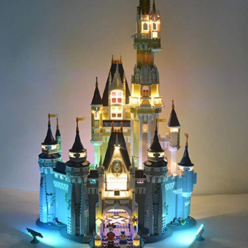WDLY Illuminazione Fai da Te Light Set, per Building Blocks Modello - LED Corredo della Luce Compatibile con Lego 71040 Disney Castello (Solo Light Set)