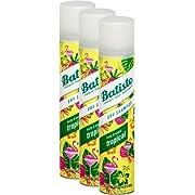 Batiste shampooing sec, Noix de coco et Exotique Tropical, frais cheveux, pour tout types de cheveux, lot de 3 x 200 ml