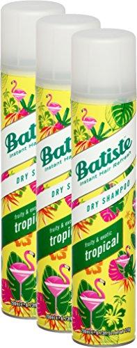 Batiste Droog Shampoo Coconut & Exotic Tropical, fris haar voor alle haartypes, 3-pack 2 + 1 (3 x 200 ml)