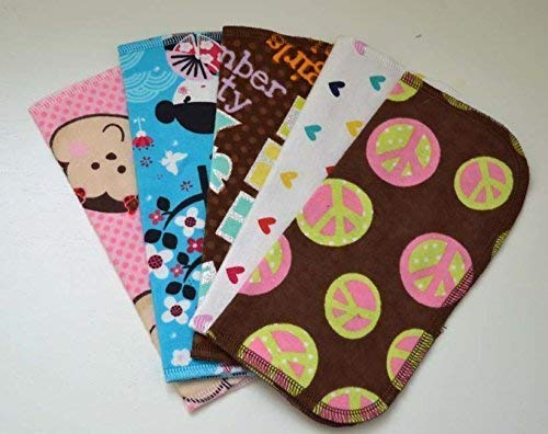 1 Ply Printed Flannel 8x8 Inches Little Wipes Set of 5 Tween Girl