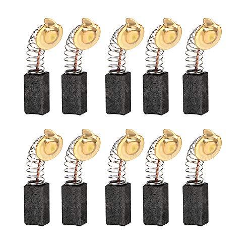 CuiGuoPing Kleine Feder-Kohlebürste, hohe Härte, elektrisches Bohrwerkzeug, für Dremel-Zubehör, 10er-Set