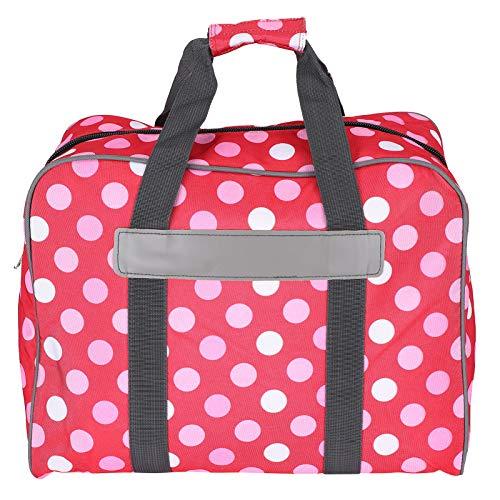 Estuche para coser, equipado con bolsillos laterales de malla, evita colisiones y rasguños, bolso para máquina de coser