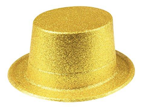 Boland 10117513 Hut Glitter, unisex-adult, Gold, One Size