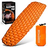 Outdoorsman Lab - Ultralight Sleeping Pad for Camping - Inflatable Sleeping Pads for Backpacking, Hiking, Traveling - Lightweight & Compact Camp Sleep Pad - Patented Air Mattress