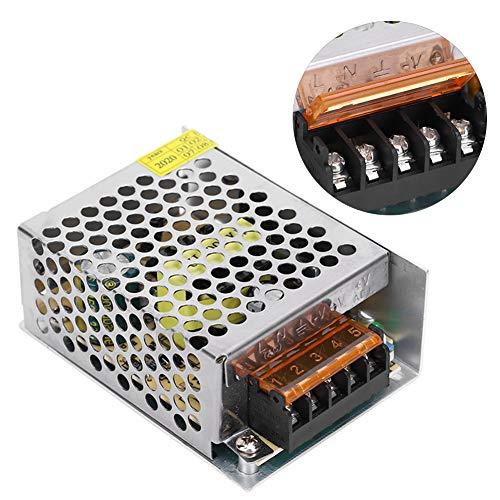 Switch Power Supply Driver Adapter DC12V Aluminum Alloy LED Light Bar Driver Medium Low Voltage Equipment 3D PrinterS‑50‑12(12V/4.2A/50W)AC100‑240V