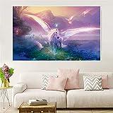 Geiqianjiumai Leinwand Malerei Wand Fantasie Pegasus