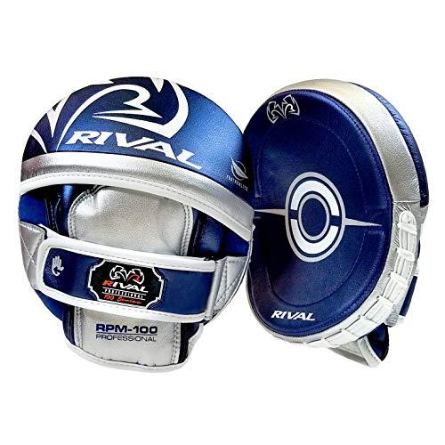 Rival RPM100 - Manoplas de boxeo profesional, color azul y plateado