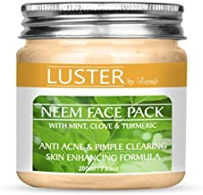 Luster Neem Face Pack (Anti-Acne & Pimple Clearing) Paraben & Sulfate Free-200 g