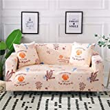WXQY Funda de sofá elástica geométrica para Sala de Estar Funda de sofá de Esquina Moderna Funda Protectora antiincrustante para Silla de sofá A1 2 plazas