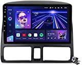 Android 9.1 GPS Navigation Stereo Radio para Honda CR-V 2001-2006, 9' Pantalla Coche Media Player Soporte Carpaly/5G FM RDS/Control Volante/Bluetooth Hands-Free