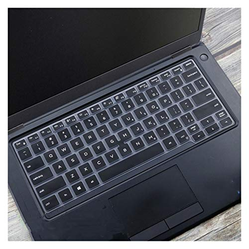 Durable keyboard stickers Silicone Notebook laptop Keyboard cover protector skin For Dell Latitude 5300 7300 7200 3301 3300 5200 2019 2020 Keyboard accessories (Color : Black)