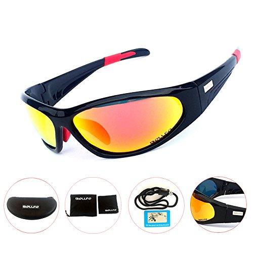 Yopria Gafas de Sol Deportivas Polarizadas Protección UV400 para Hombres Mujeres Ciclismo Equitación Corriendo Pescar Gafas de Golf
