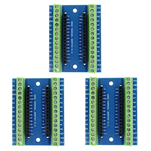 IZOKEE Terminal Adapter Platine ATMEGA328P-AU Modul für Arduino Nano (3 x Adapter)