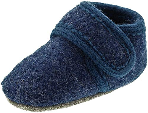 Celavi Baby Unisex Wollschuhe, Alter 9-18 Monate, Größe: 19/20, Farbe: Blau, 3953