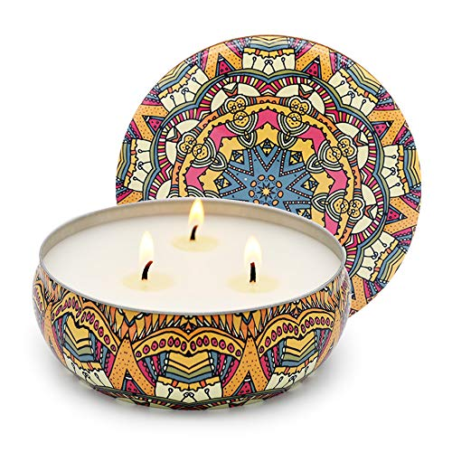 Citronella Candle Outdoor Scented Soy Wax 3 Wick Tin, 75 Hour Burn, Outdoor and Indoor