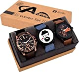 Acnos Special Super Quality Analog Watches Combo Look Like Handsome for Boys and Mens Pack of - 3(MIN-FX07-L01)