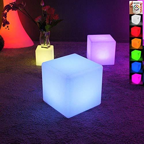 LIVEDECO - Cubo luminoso con LED, multicolor, 40 cm