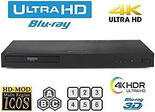 New LG UBK90 UHD Streaming - 4K - 2D/3D - Region Free Blu Ray Disc DVD Player - PAL/NTSC - USB - 100-240V 50/60Hz for Worl...