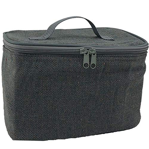 Red Hamper Grey Tweed Chiller Bag