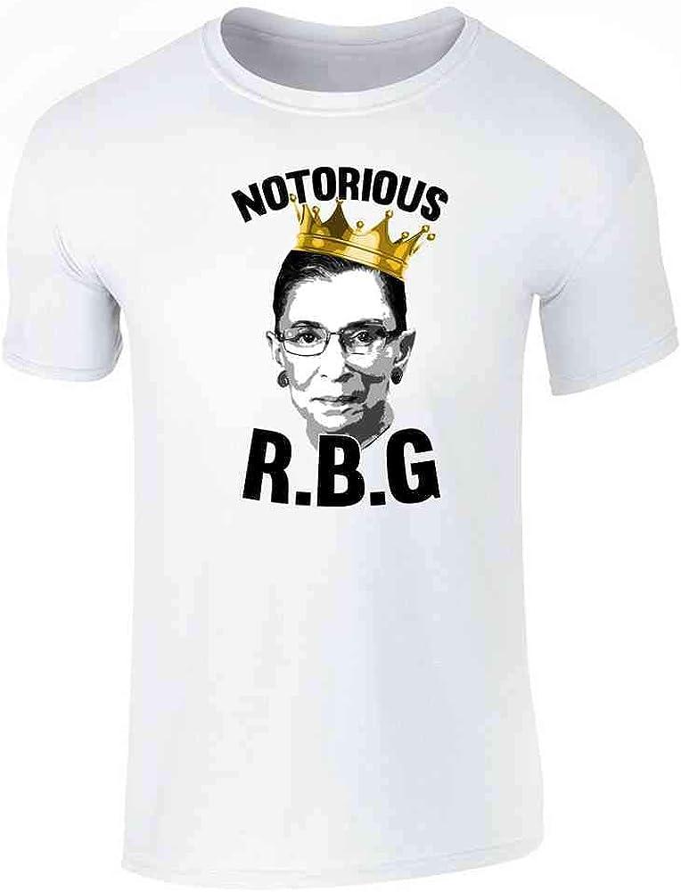 Pop Threads Notorious R.B.G. RBG Supreme Court Political White 3XL Graphic Tee T-Shirt for Men
