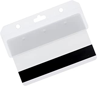 Frosted Rigid Plastic Horizontal Half Card Holder - for Swipe Cards by Specialist ID (1 Pack)