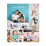 Personalized Blanket from Photo and Texts, Custom Blankets with Photos Collage, Customized Blankets, Personalized Throw Blankets for Family, Friends, Dogs or Pets, Used as Souvenirs and Gifts